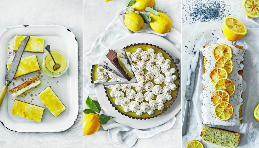 Recept på 3 efterrätter med citron