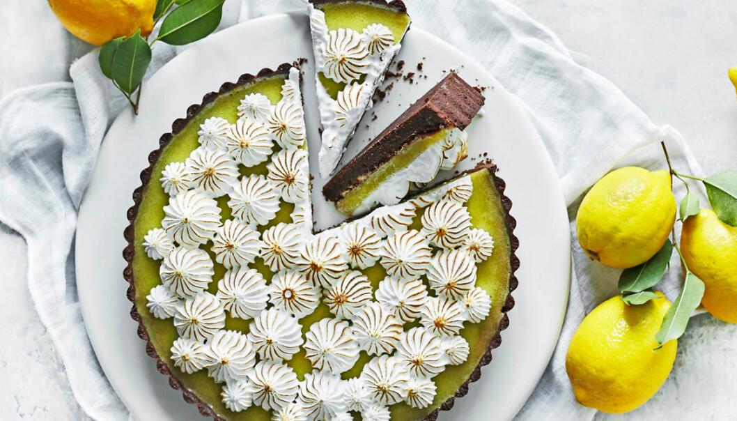 Recept på citronpaj med kakaomördeg