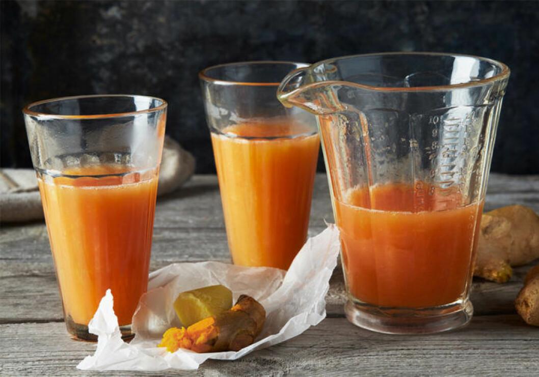Citrusshot med ingefära