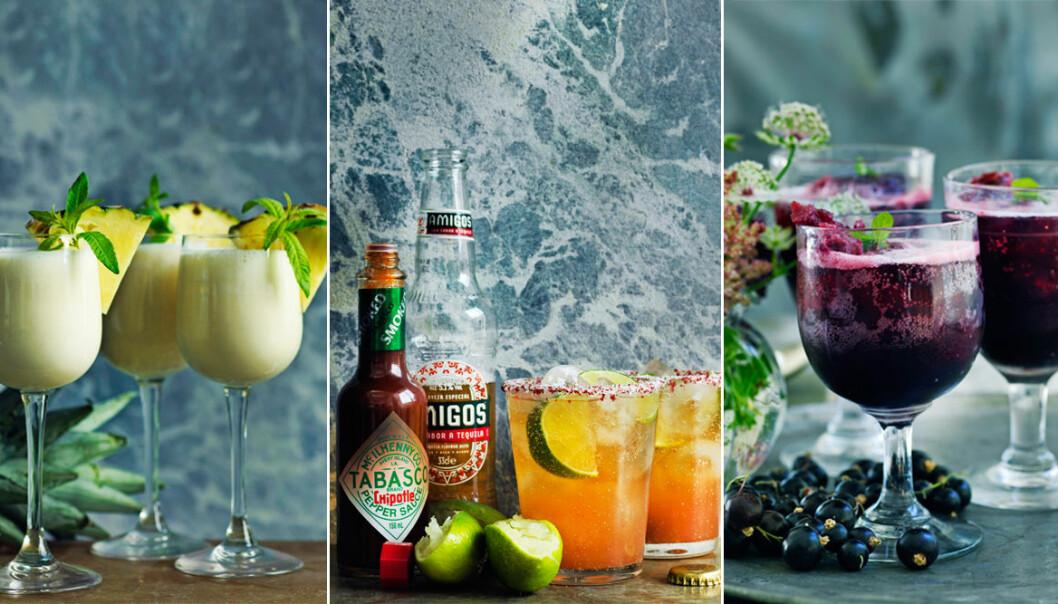 Recept på 3 snygga och lyxiga drinkar