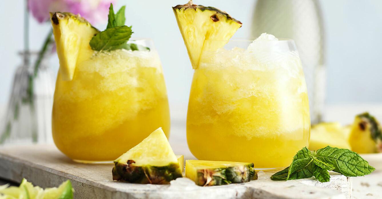 Recept på cocktailslush med ananas