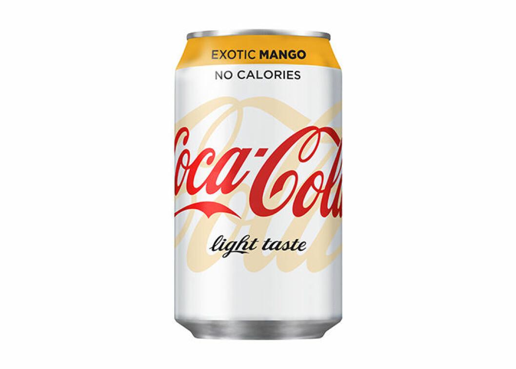 Nyheten: Coca-Cola light Exotic Mango!