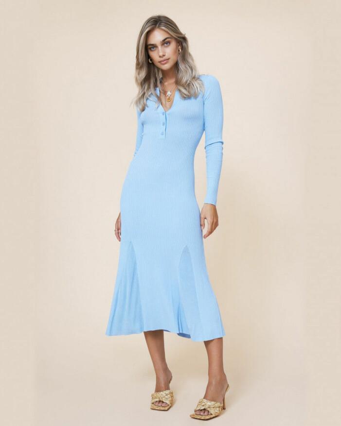 blå klänning adoore