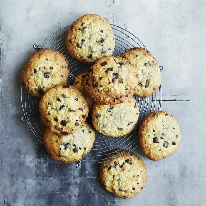 Recept på cookies med choklad och kokos