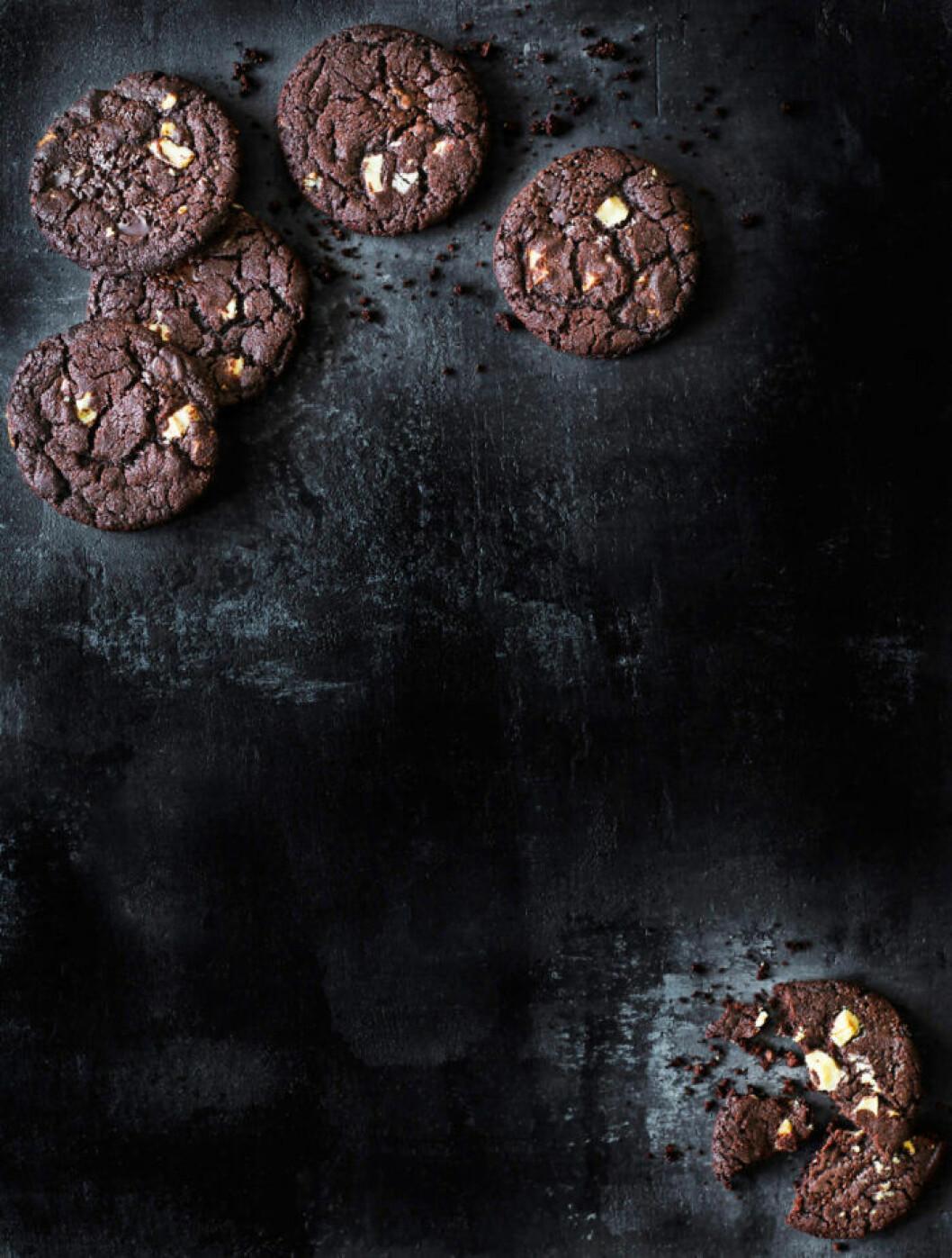 Recept på cookies med vit choklad