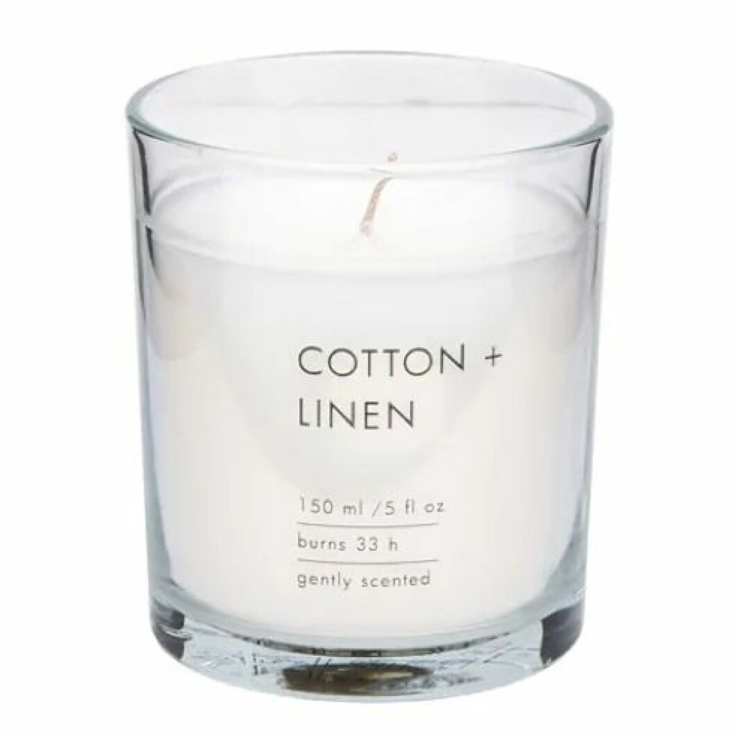 Doftljus Cotton och Linen från Lagerhaus