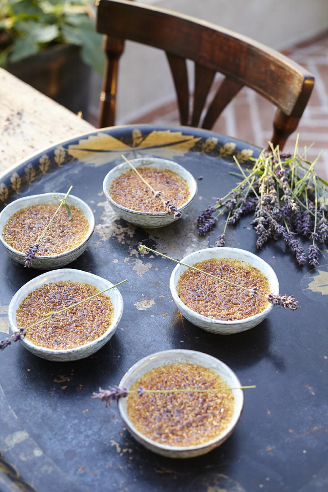 Recept crème brulée med lavendel