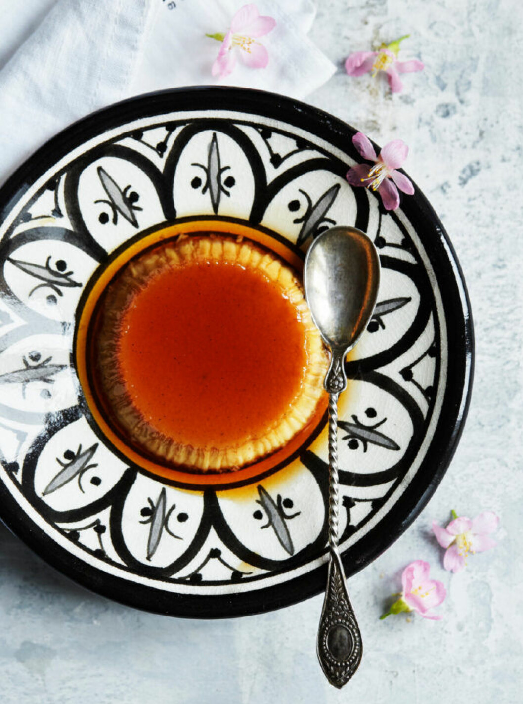Créme caramel med kaffe