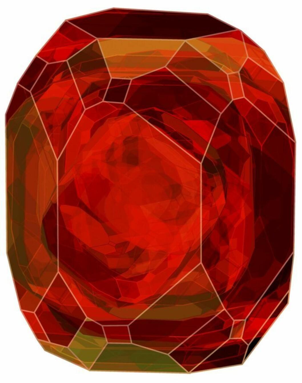 Crystal red rug, trendig 2019.