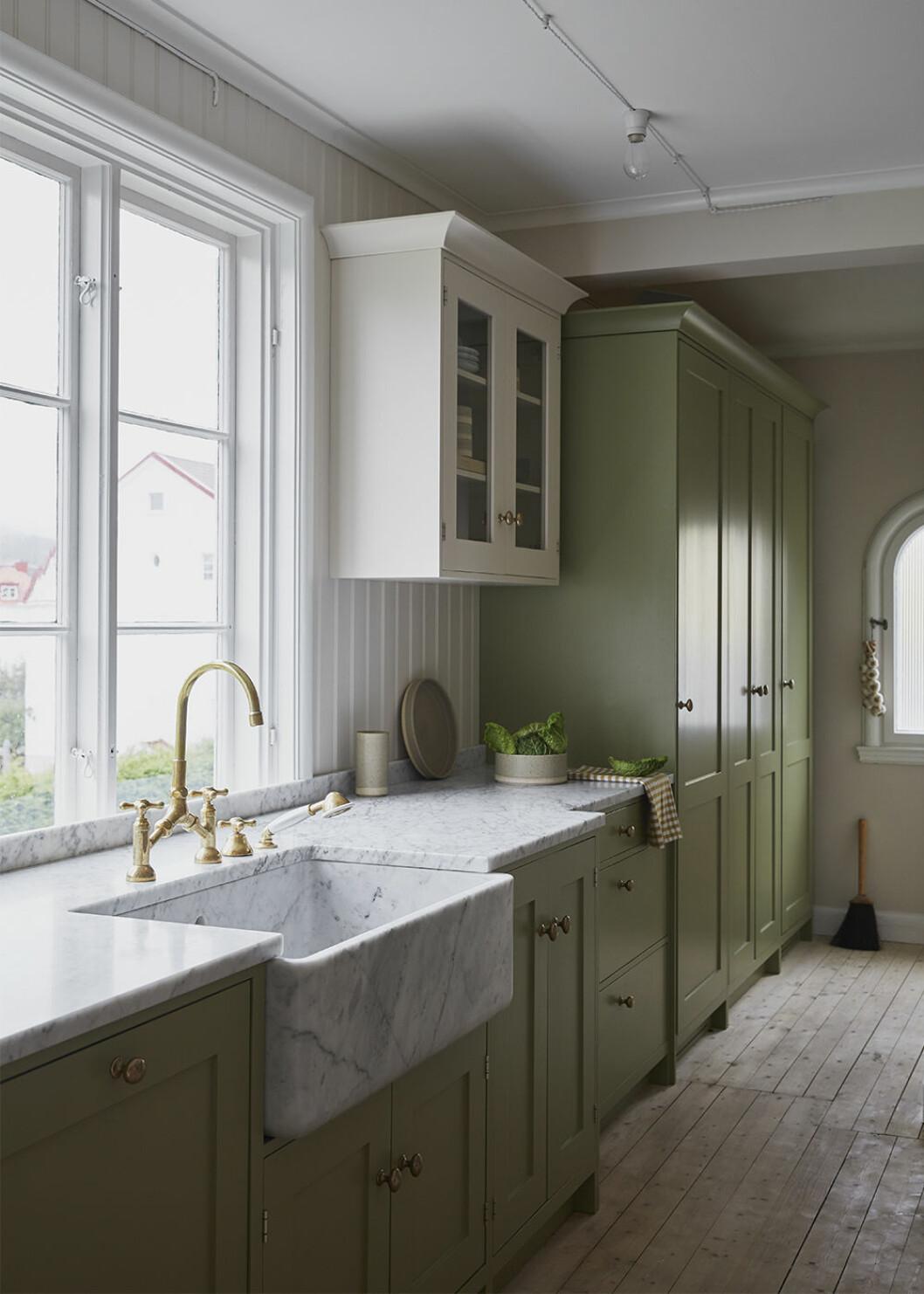 Kök hemma hos Johanna Bradford i grönt