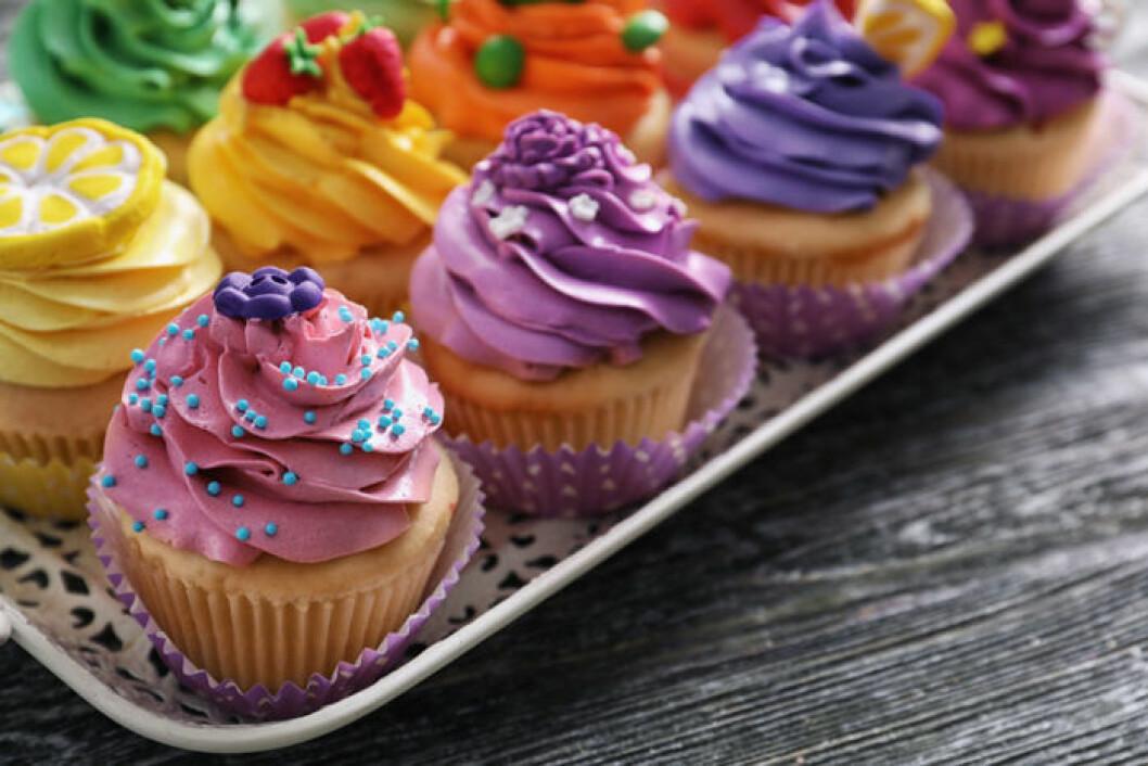 Konstnärliga cupcakes är fiskens favorit.