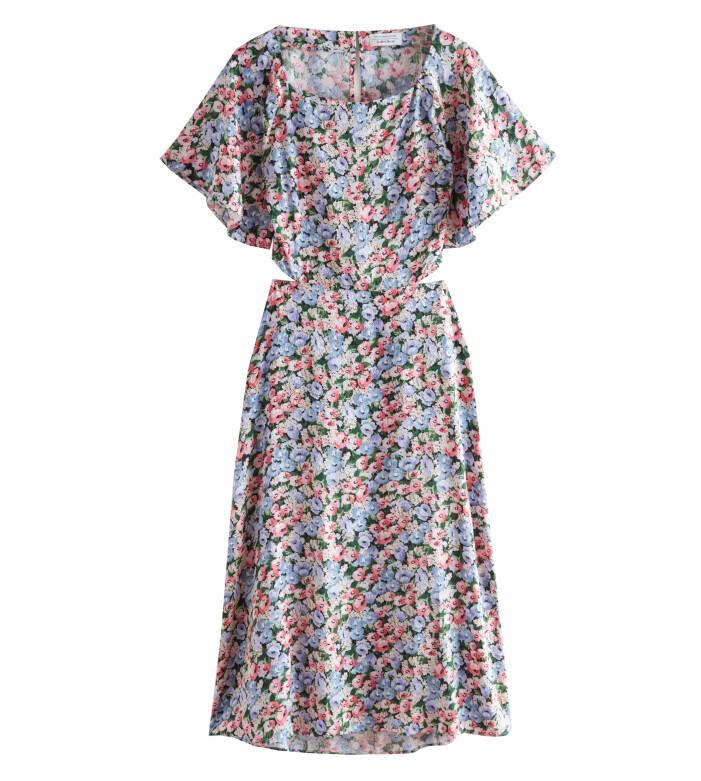 blommig klänning stories