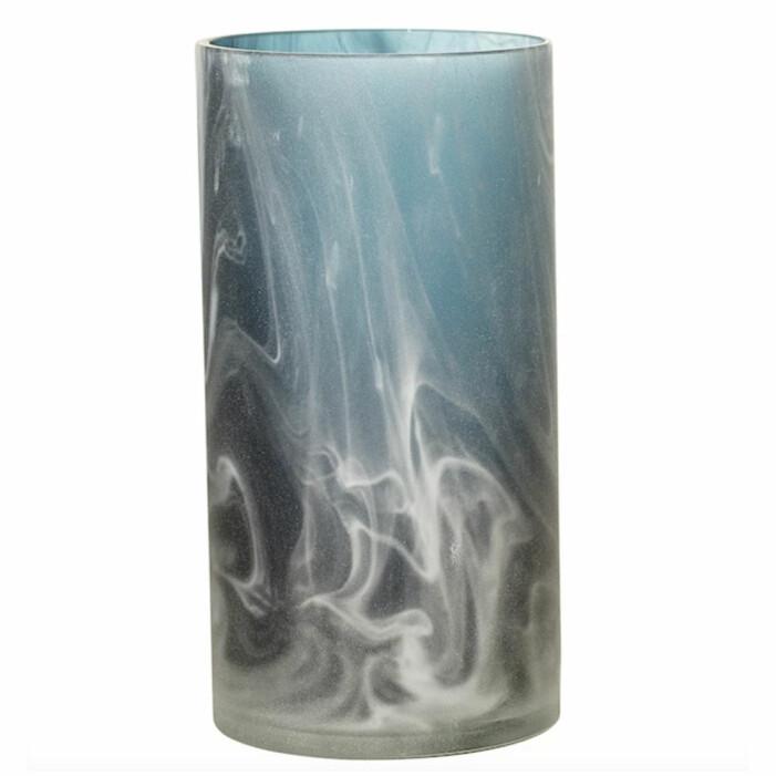 mönstrad cylinderformad vas