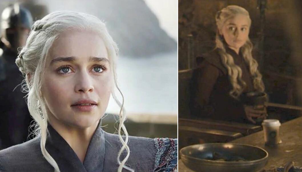 Daenerys Targaryen och starbucksmuggen