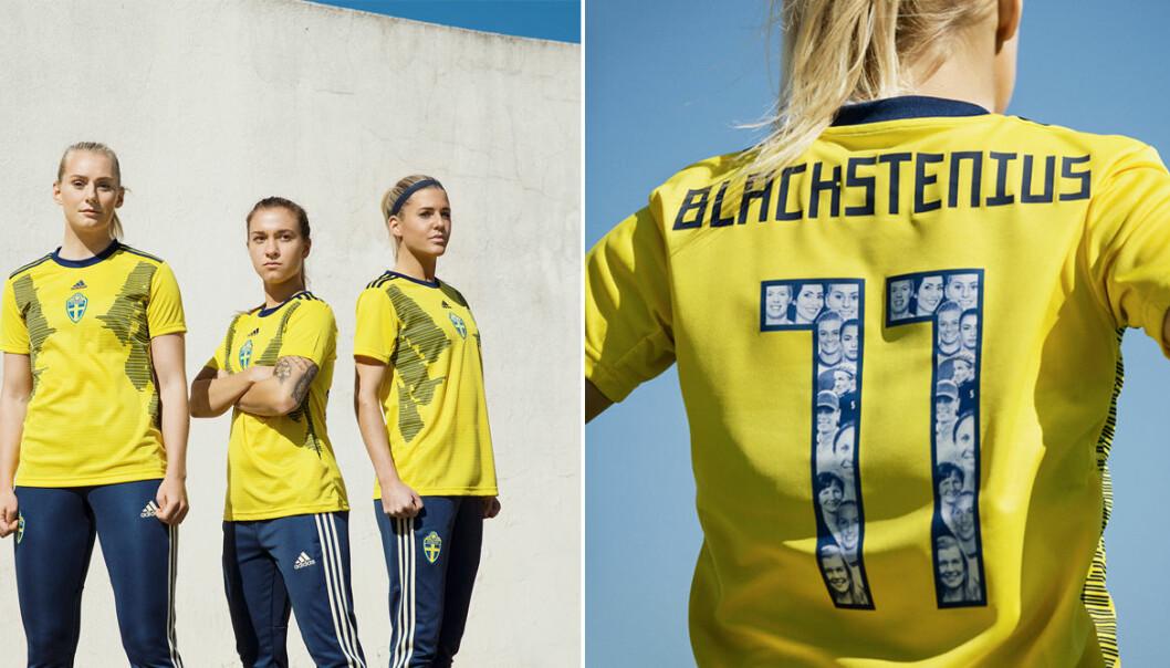 Damlandslaget i fotboll lanserar ny VM-tröja 8 mars