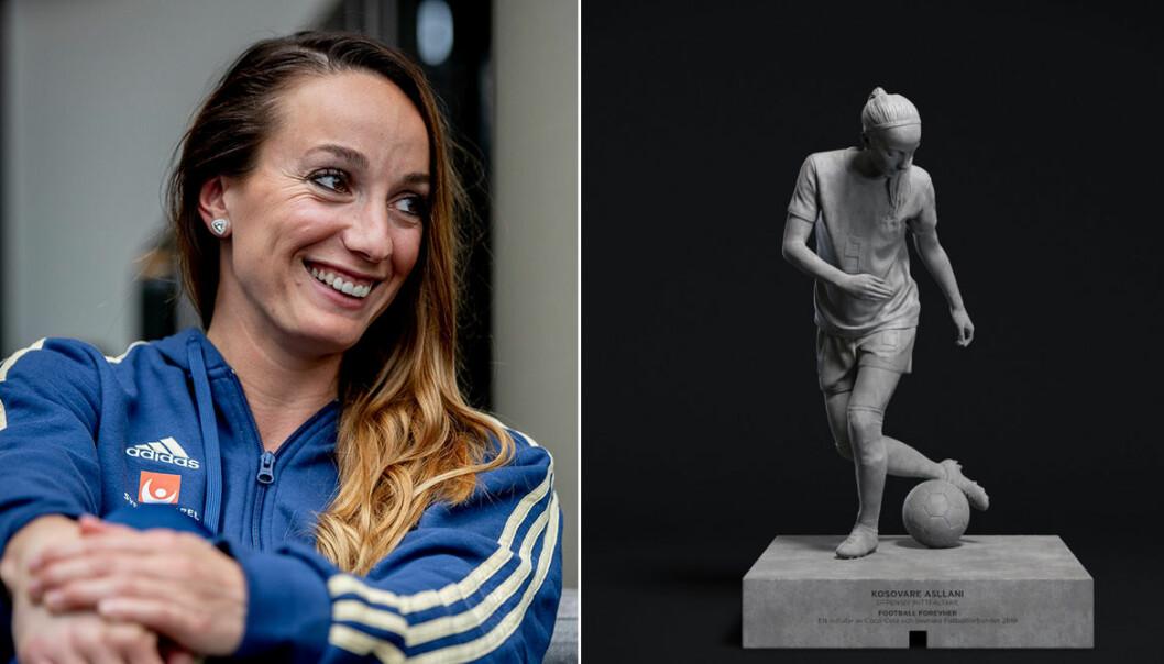 Fyra VM-stjärnor i damlandslaget har blivit statyer
