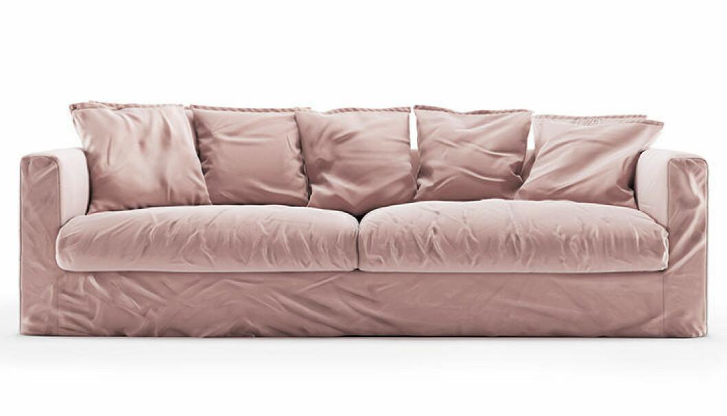 soffa i sammet från decotique
