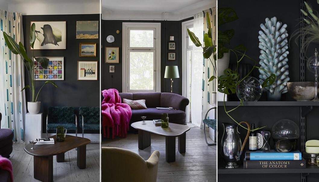 Kliv in i stylisten Dennis Valencias färgstarka hem i Vasastan