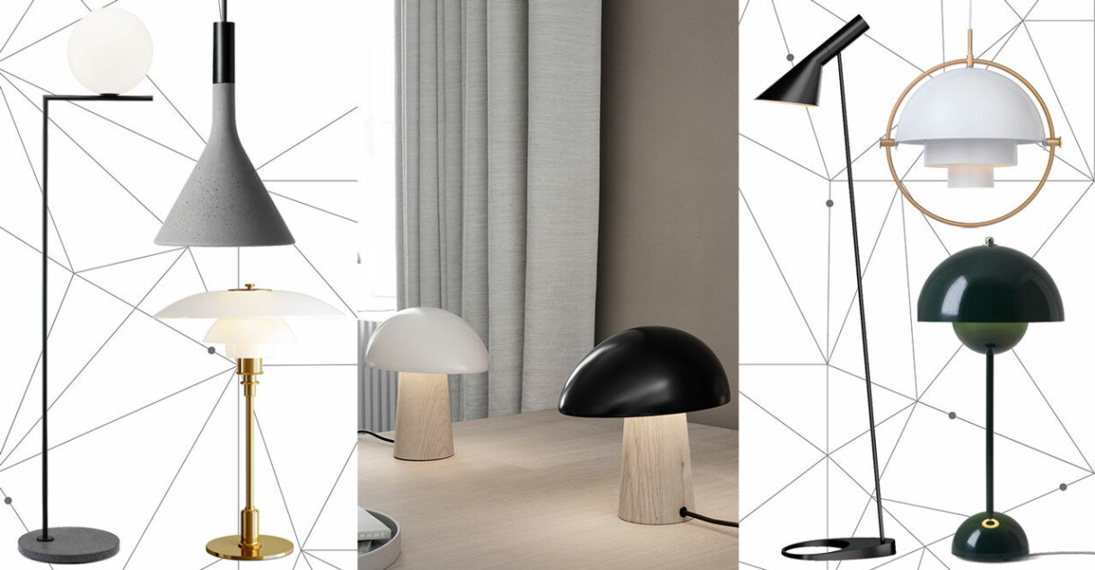 Snygga och tidlösa bordslampor, golvlampor och taklampor i butik just nu