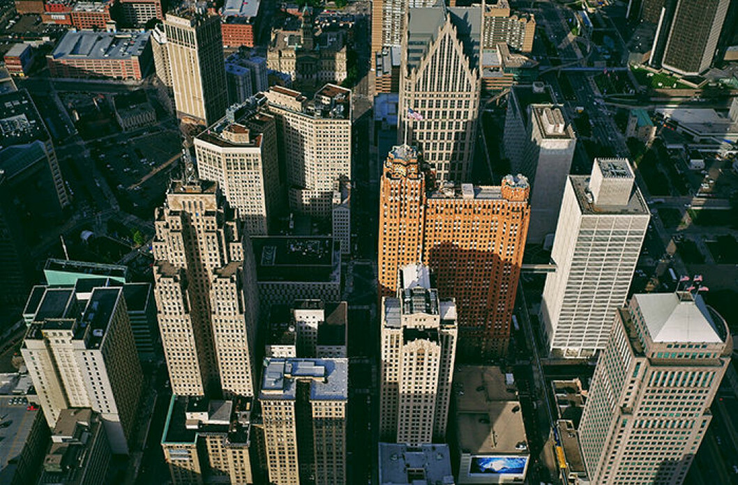 Detroit i USA utsikt