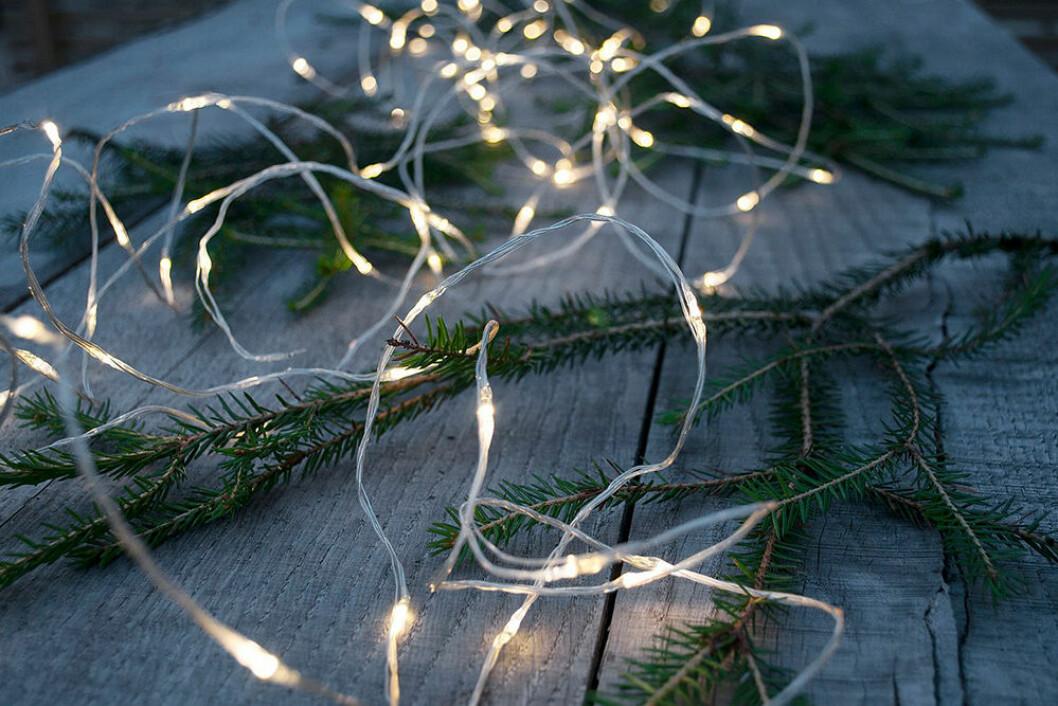 Dew drop-ljusslinga för utomhusbruk