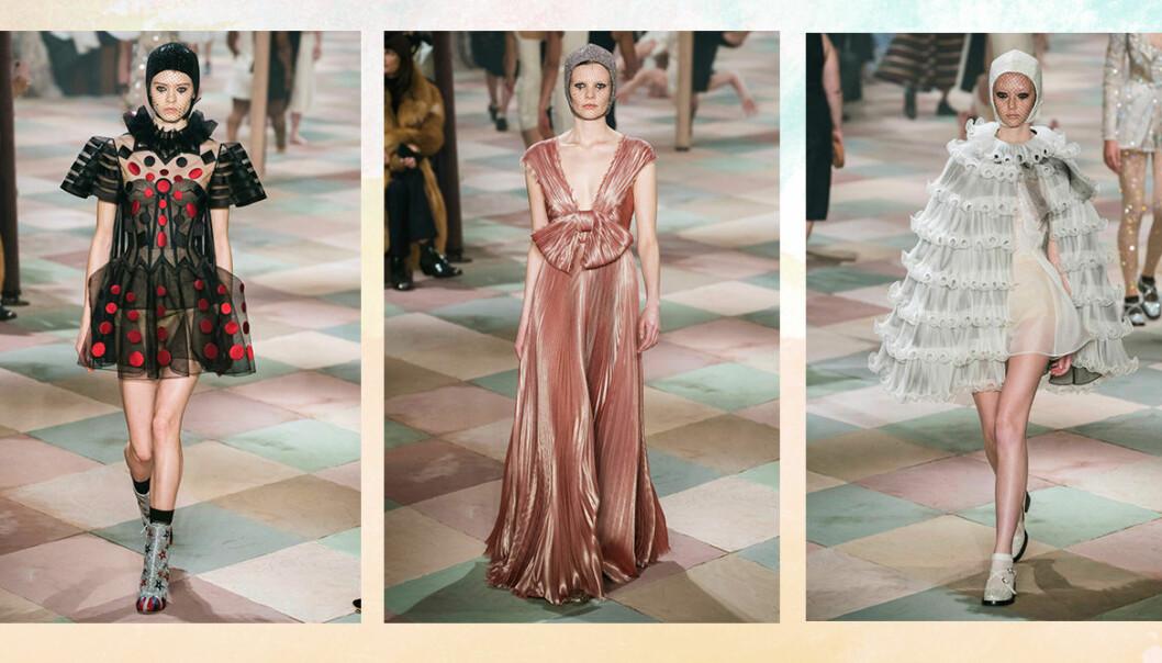 Bilder från Diors haute couture-visning.