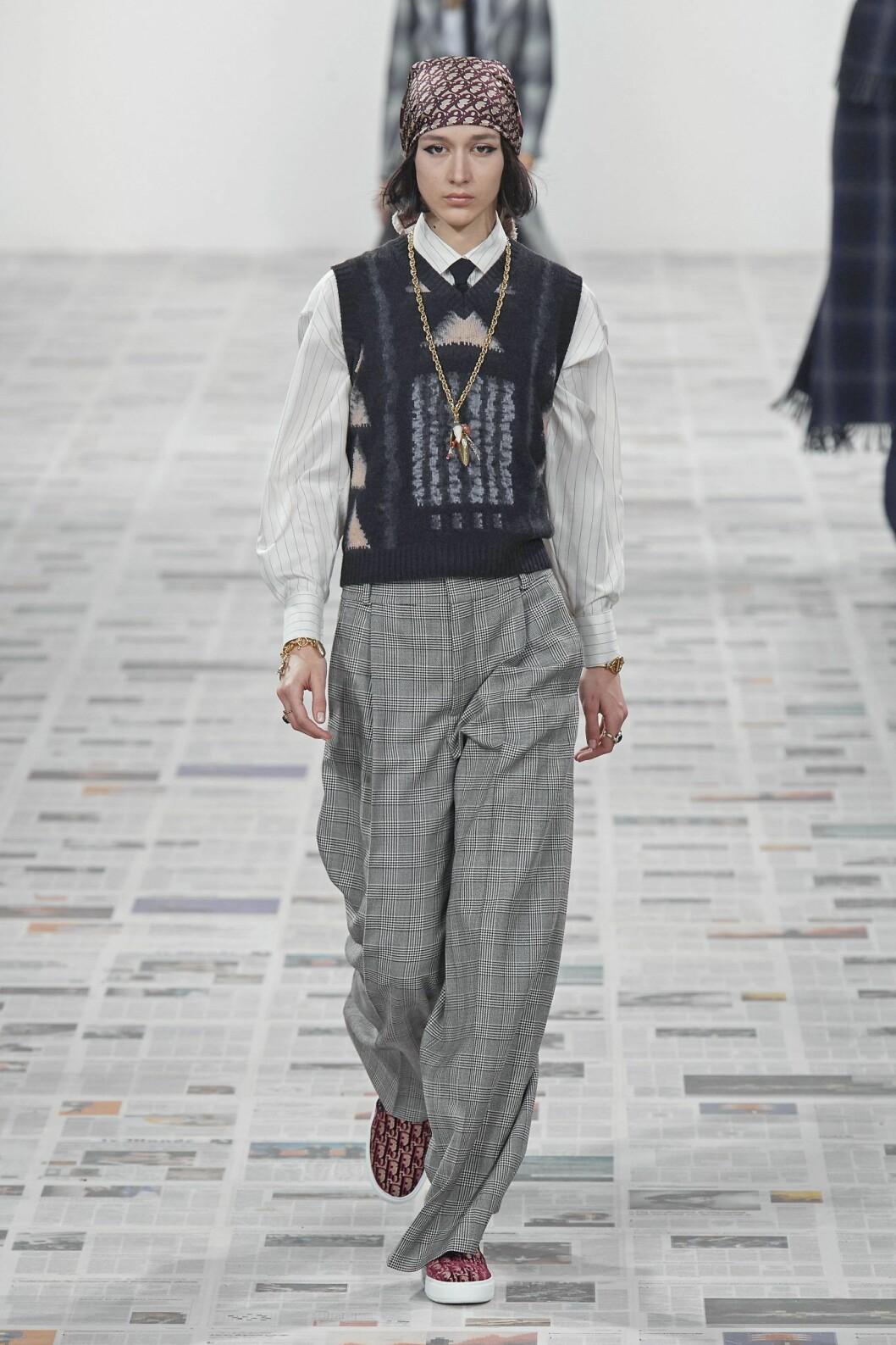 Dior väst, Dior androgyn, höstmode 2020