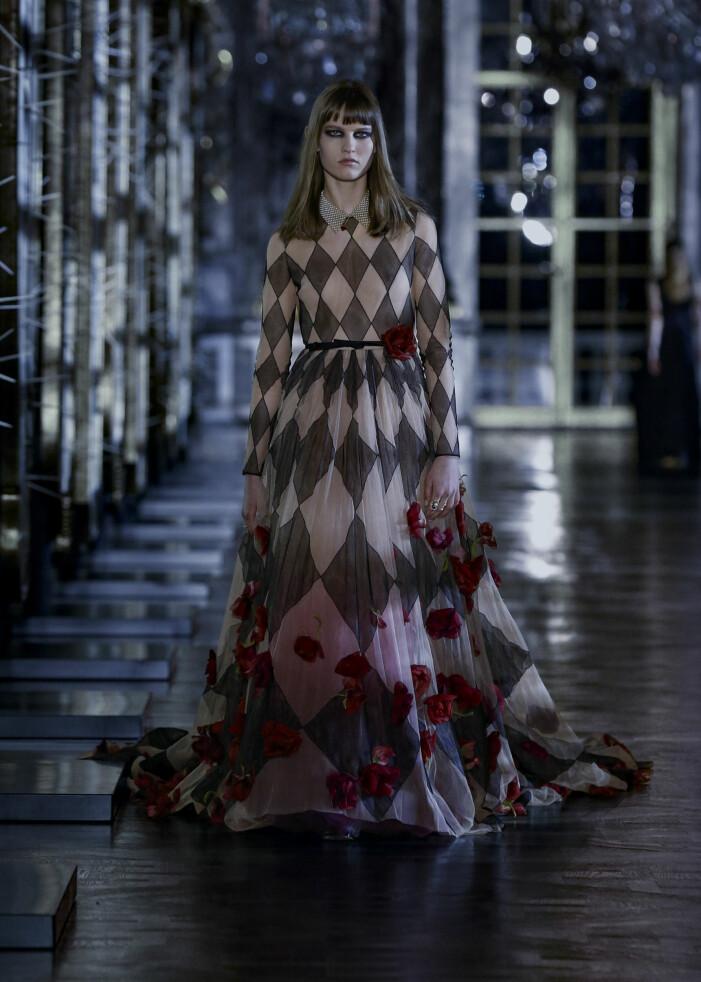 SCHACKRUTIGklänning Dior AW21