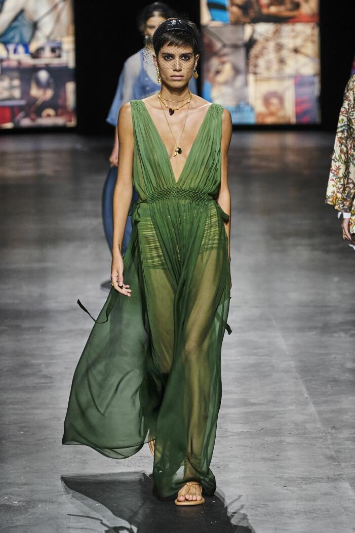 Dior transparent klänning vårmode 2021