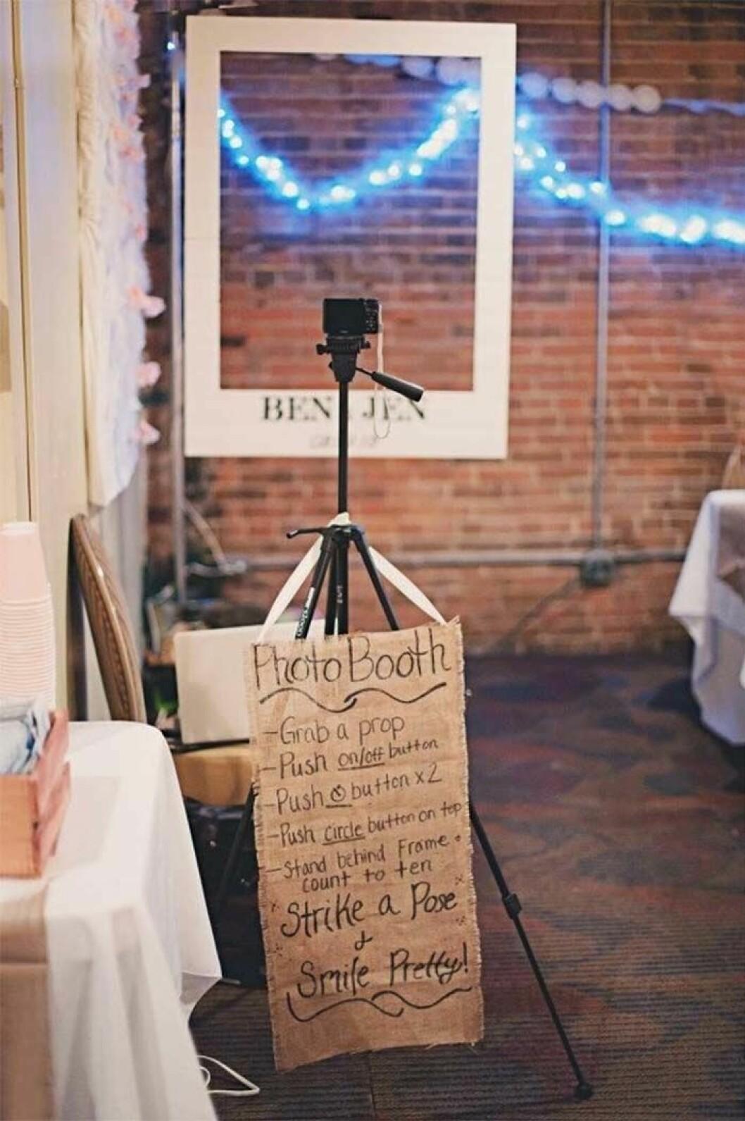 Fotobås till bröllop.