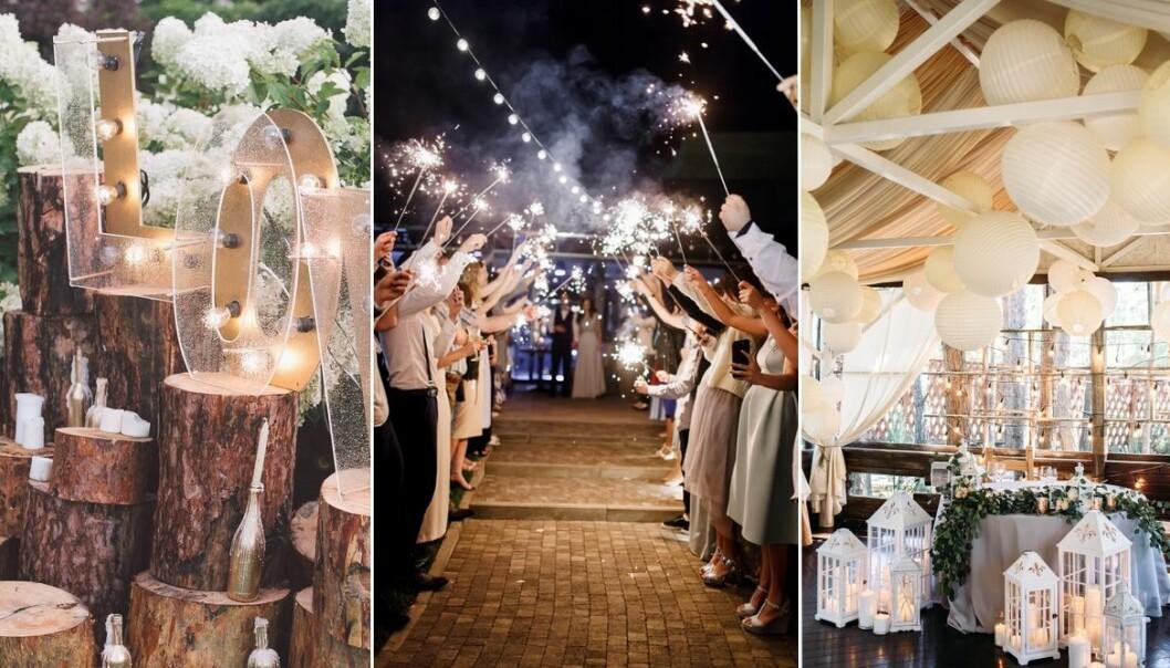 Bröllopsdekoration att göra själv i lokal