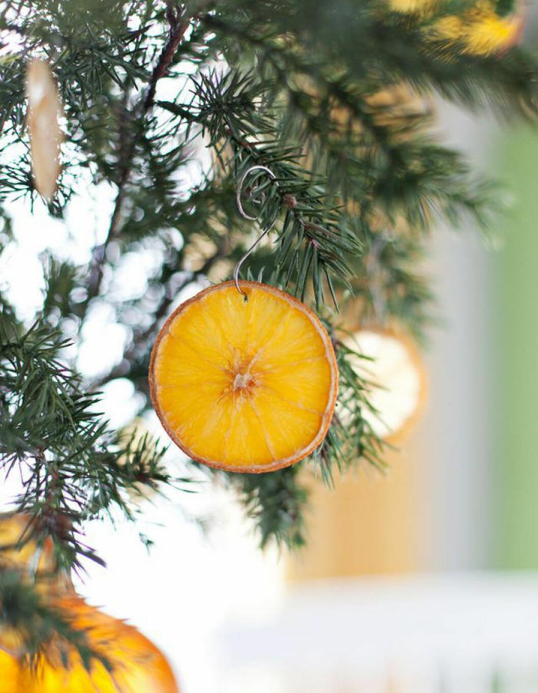 diy julgransdekoration med apelsin