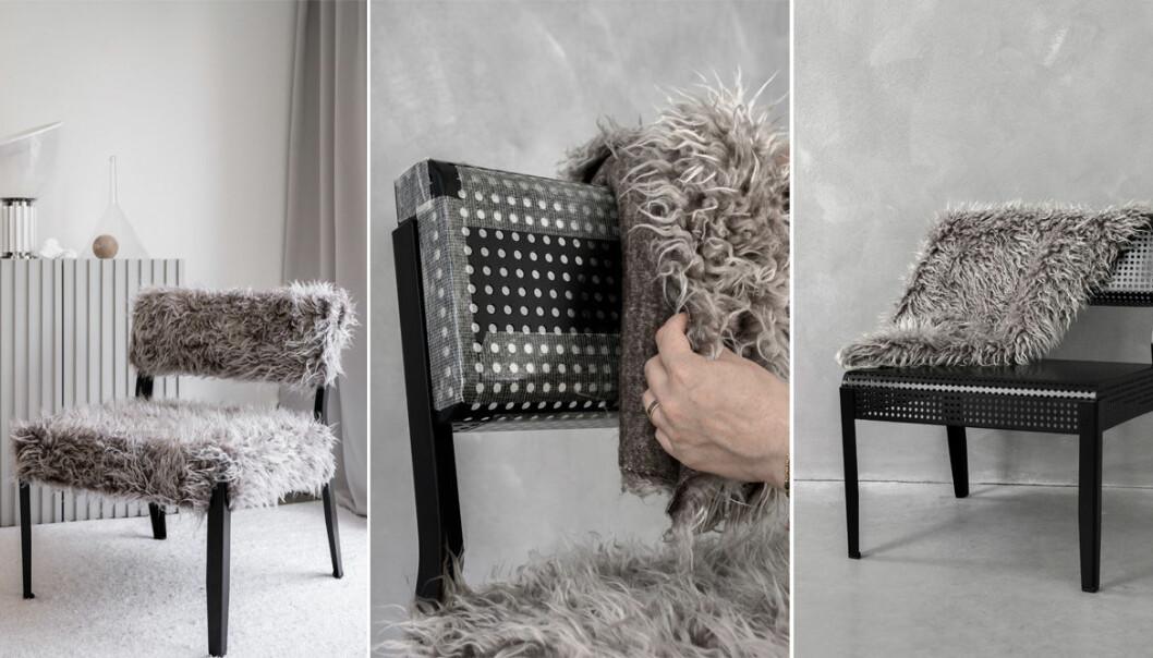 Så klär du om din stol med fuskpäls