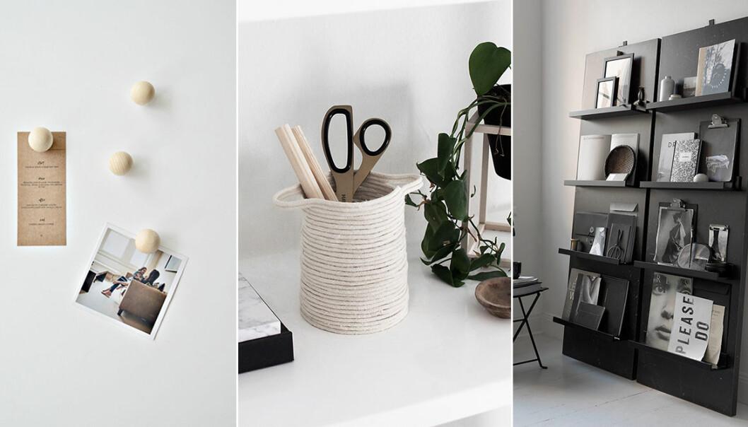 DIY projekt för hemmakontoret och skrivbordet
