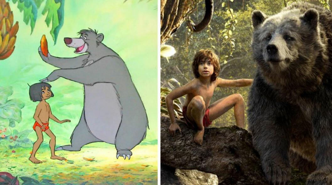 Mowgli i djungelboken med Baloo