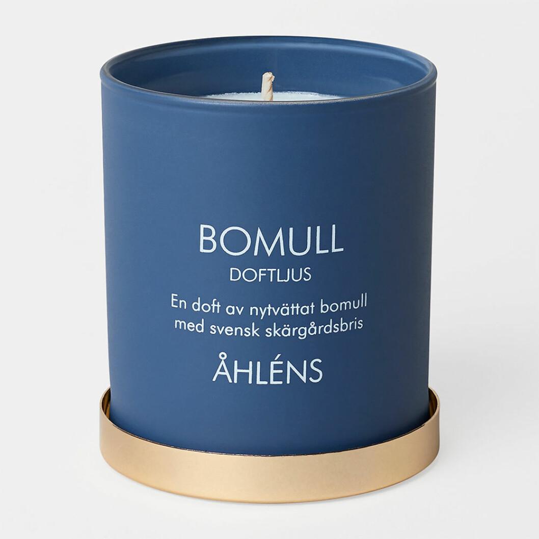 Doftljus med doft av bomull från Åhléns