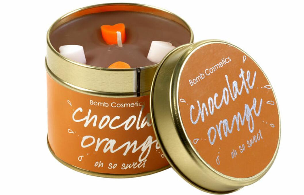 doftljus choklad apelsin