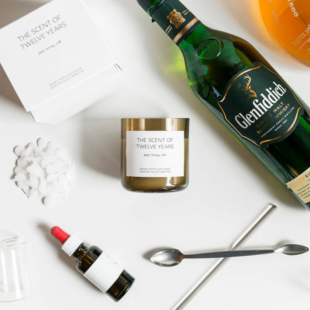 "Doftljuset ""The Scent of Twelve Years"" från Glenfiddich doftar whisky."