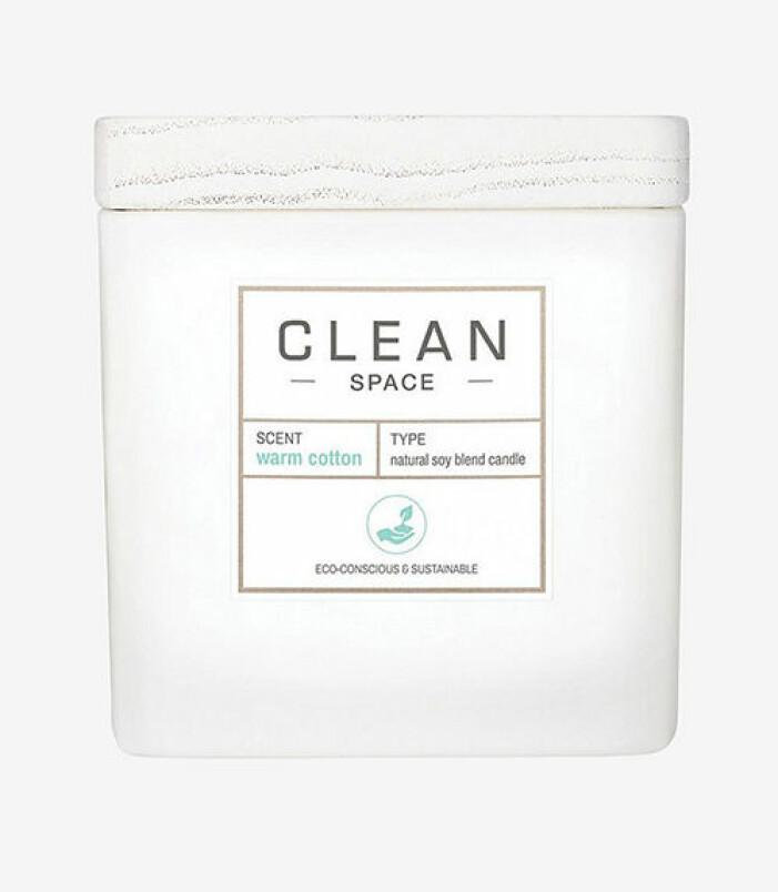 Doftljus med doft av nytvättat, Clean
