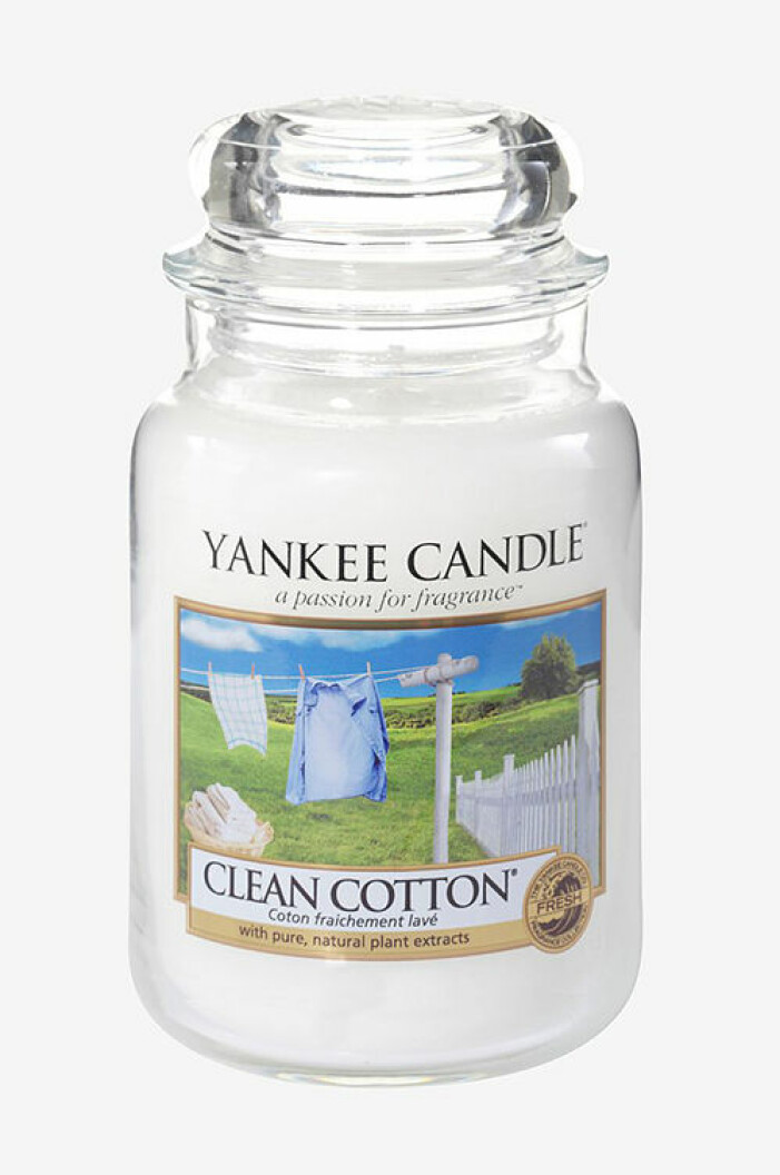 Doftljus med doft av tvättat linne, Yankee Candle