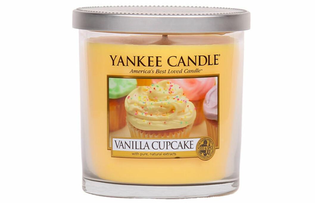 doftljus vaniljcupcake