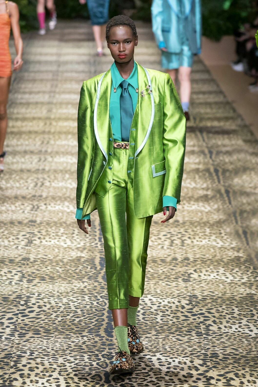 Grön sidenkavaj från Dolce & Gabbana