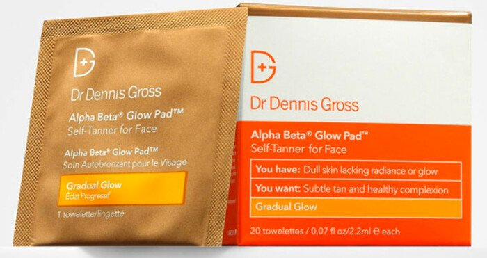 Dr. Dennis Gross alpha beta pad bästa brun utan sol wipes