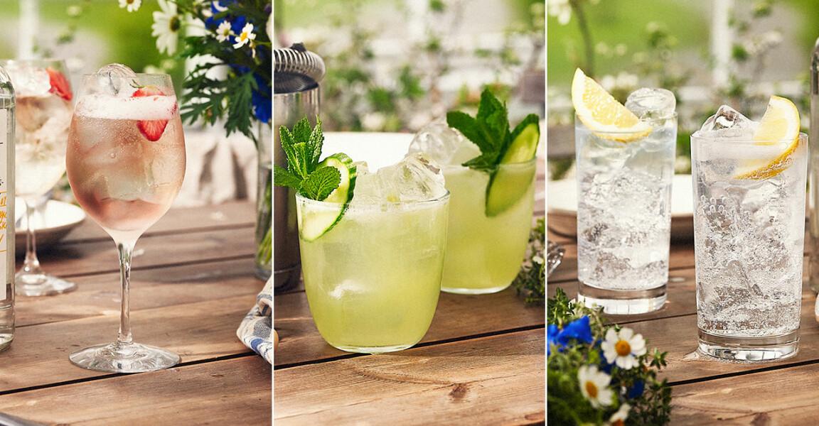 Tre drinkar med Åhus akvavit