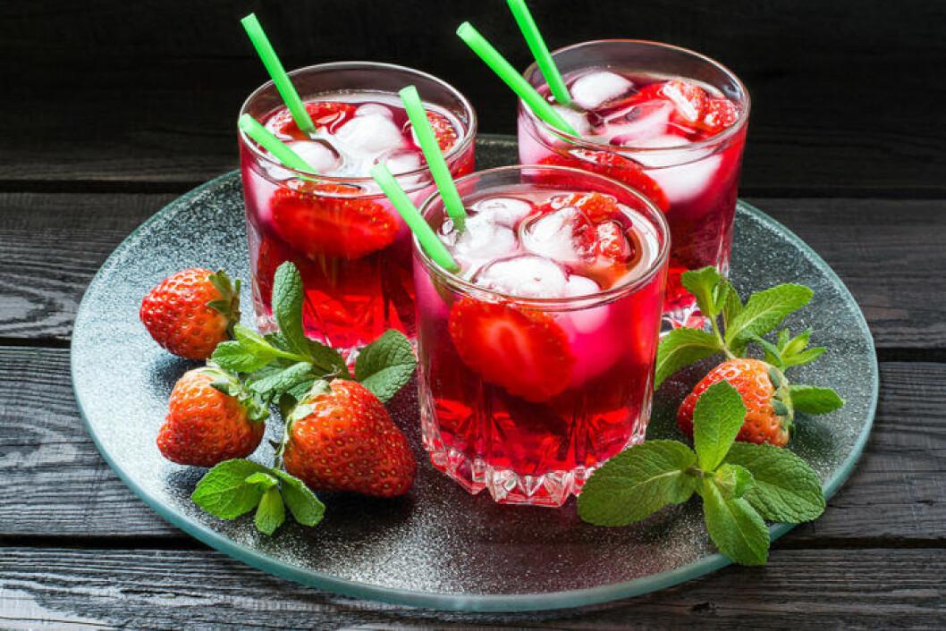 Alkoholfria jordgubbsdrinkar. Foto: Shutterstock