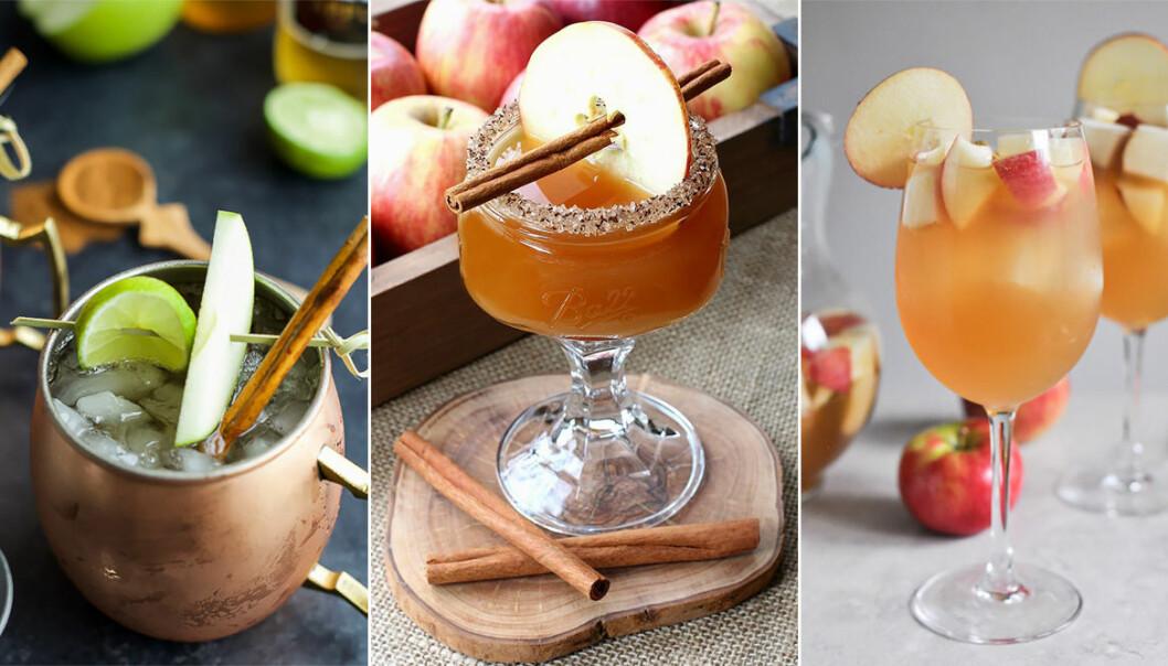 olika drinkar med äppelcider
