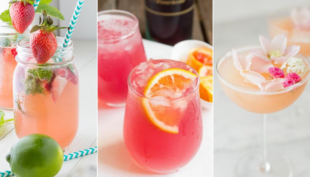 Goda drinkar med rosévin