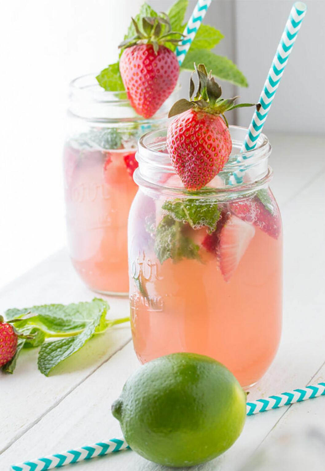 Strawberry & mint rosé.