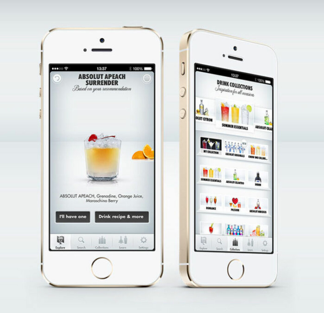 Drink-appen Drinkspiration