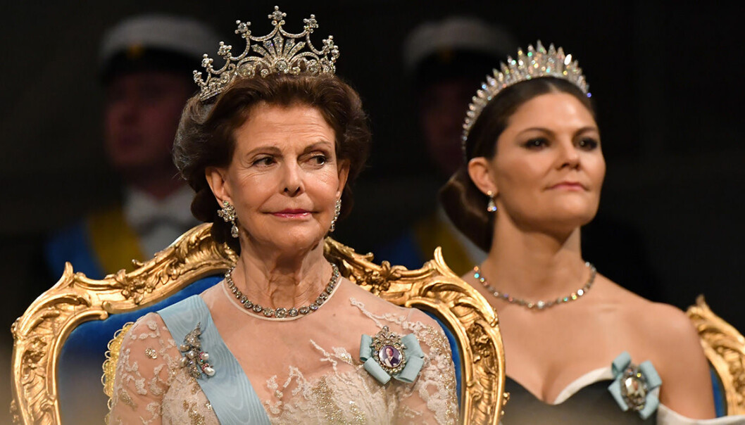 Drottning Silvias nobelklänning 2019